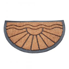 Deurmat rubber/kokos 40x70 cm - Halfrond